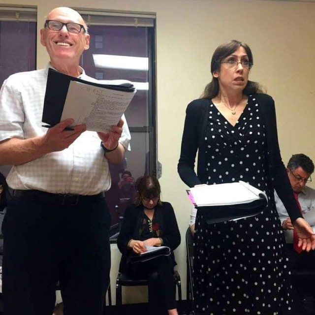 Susan in rehearsal for a reading of The Brother basedhellip