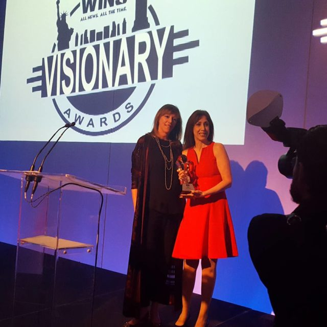 OMG amazing night at 1010WINS Visionary Awards! I presented anhellip