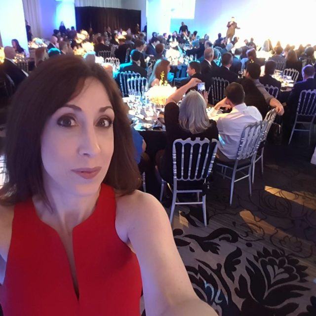 Selfie at 1010WINS Visionary Awards! Great night!