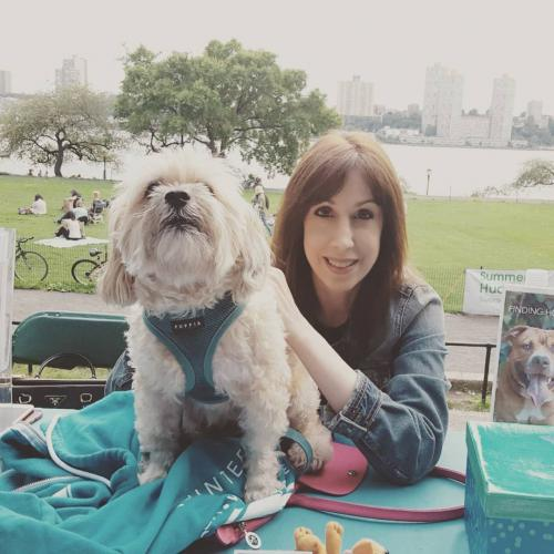 Susan with Gary The ACC rescue dog