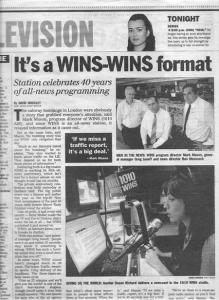 WINS 40th Anniversary Daily News Story