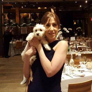 Susan with puppy ACC gala 2015