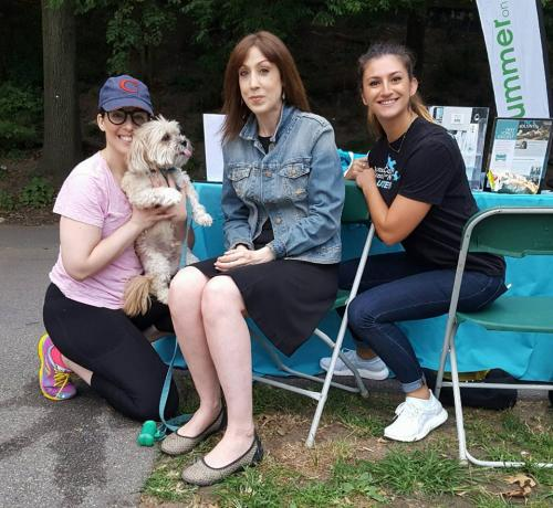 Susan with folks from Animal Care Centers of NYC