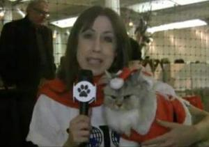 Susan & Martini The Santa Cat