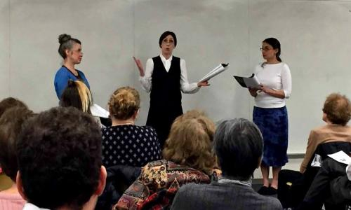 Break A Leg Productions reading of Silent Sky by Lauren Gunderson at the CUNY Graduate Center