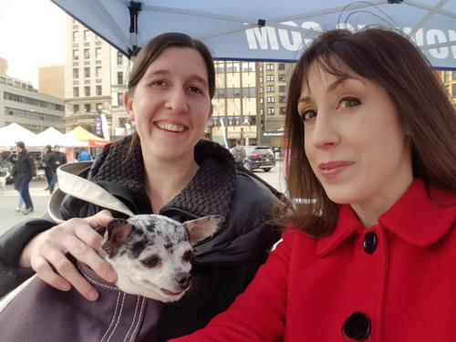 Susan anchors FB Live Broadcast for Petco Foundation All For Love Adoption Rally (Here with @lusealdog)