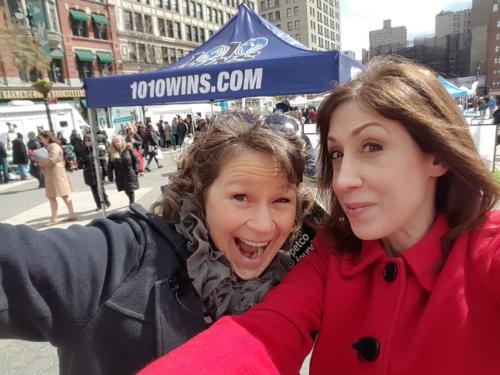 Susan anchors FB Live Broadcast for Petco Foundation All For Love Adoption Rally (Here with Petco Fnd Exec Dir Susanne Kogut)